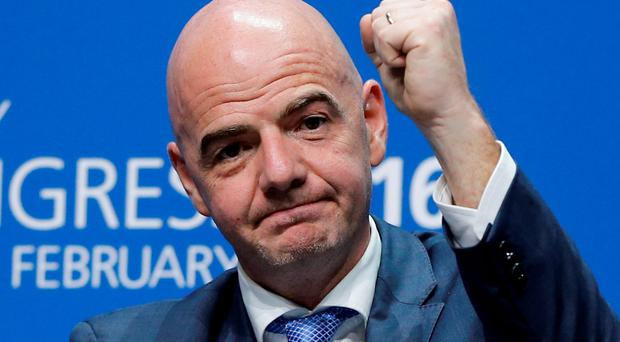 Newly elected FIFA president Gianni Infantino. Photo: AP
