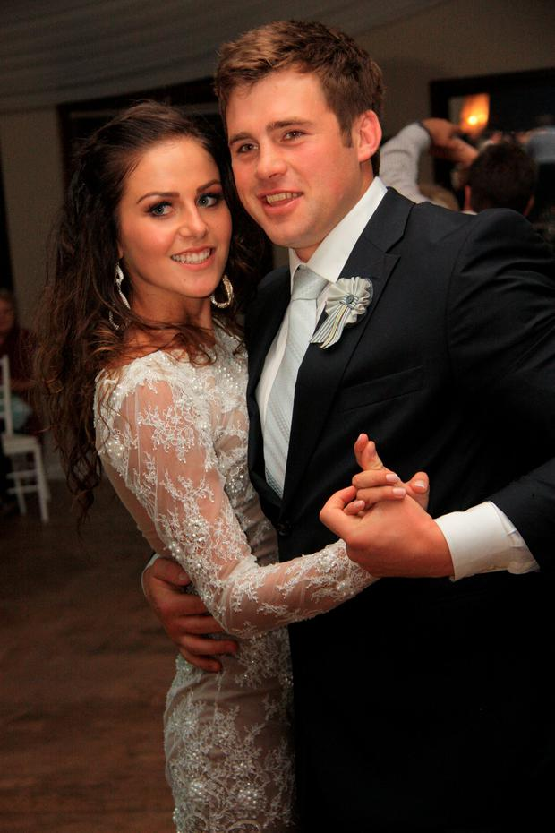 CJ Stander and his wife Jean-Marié on their wedding day
