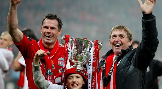 Liverpool great Jamie Carragher had a cheeky response to the news that Kenny Dalglish will have a stand named after him at Anfield