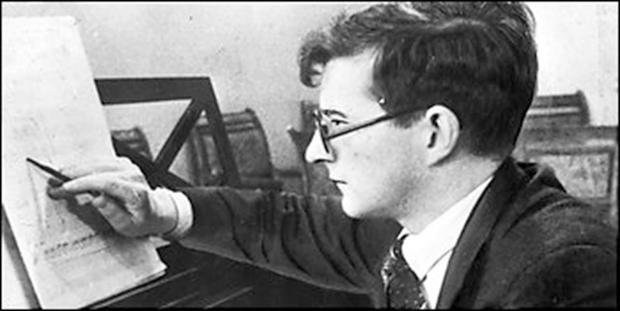 Under threat: Dmitri Shostakovich lived under constant fear of Stalin's KGB death squads.