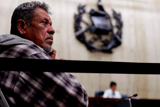 Ex-military commissioner Heriberto Valdez attends the final hearing of the Sepur Zarco case in Guatemala City, Guatemala, February 26, 2016