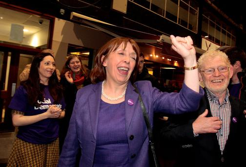 Roisin Shorthall of the Social Democrats at the count in the RDS. Picture: Tom Burke