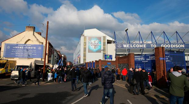 A general view outside Goodison Park