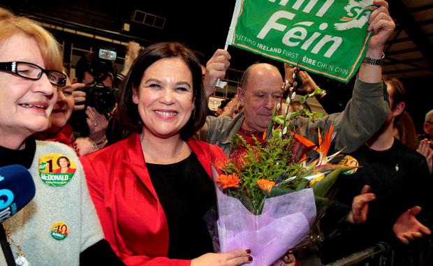 Sinn Fein's Mary Lou McDonald ,Dublin Central at the count in the RDS yesterday.Pic Tom Burke 27/2/2/2016