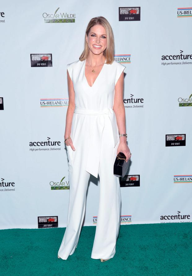 Amy Huberman in 2016 - wearing the jumpsuit that caused