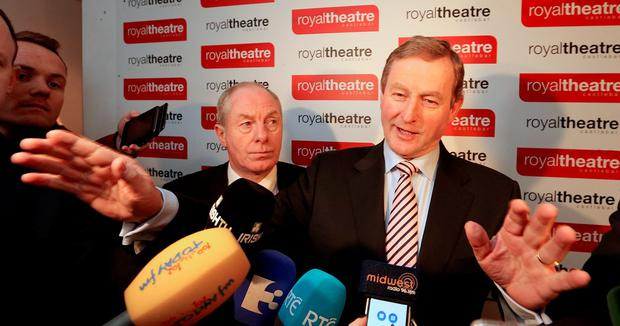 Michael Ring and Enda Kenny in Castlebar