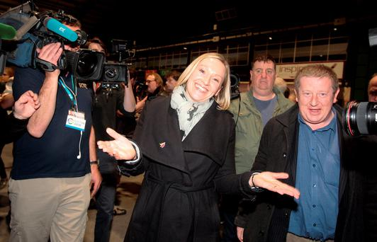 Lucinda Creighton of Renua Ireland at the count in the RDS yesterday.Pic Tom Burke