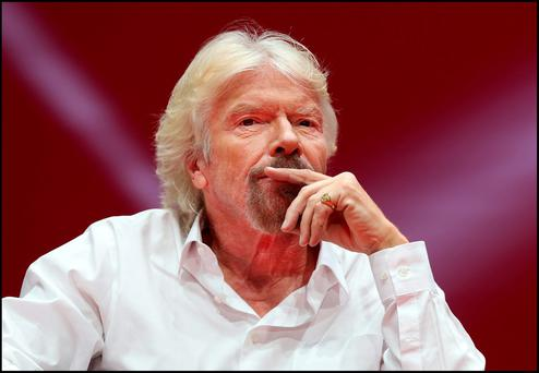 Richard Branson. Photo: Steve Humphreys