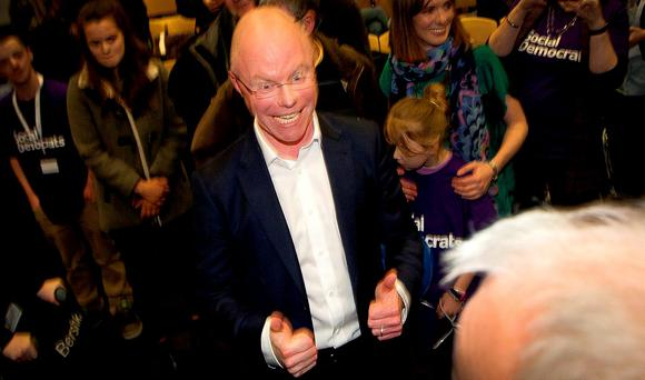 NEW FORCE: Social Democrats founders Stephen Donnelly (pictured), Roisin Shortall and Catherine Murphy all retained their seats, while Lucinda Creighton lost hers on the fifth count in Dublin Bay South