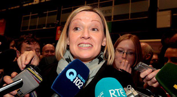 Lucinda Creighton of Renua Ireland at the count in the RDS yesterday