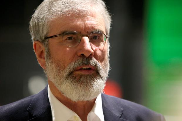 Sein Fein leader, Gerry Adams pictured at the RDS count centre. Picture credit; Damien Eagers 26/2/2016