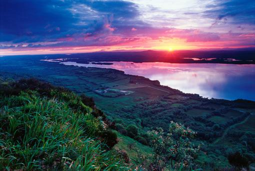 At the end of the day: Sunset across Lough Erne, home to the Lusty Beg Island Resort, an utterly beguiling place.