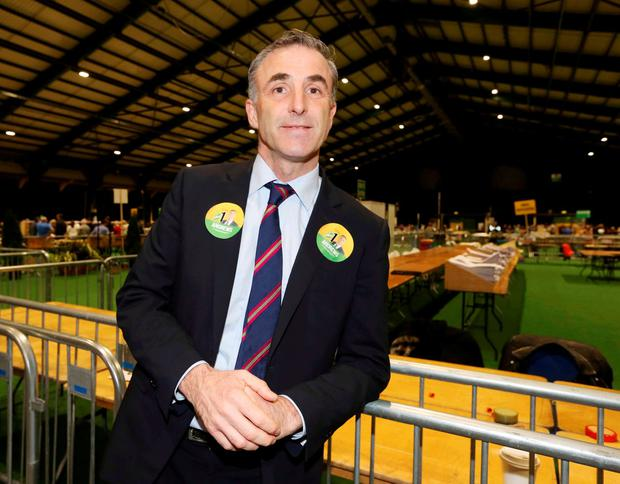 Chris Andrews at the count centre. Photo: RollingNews.ie
