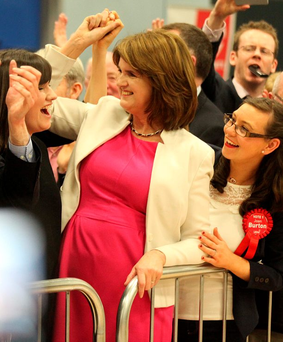 'Joan Burton (pictured and Alan Kelly barely survived, but many senior Labour colleagues have suffered the same fate as the Progressive Democrats and Greens in earlier coalitions'