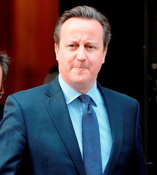 'David Cameron has so many problems of his own at the moment that he has been grateful for any support from across the Irish Sea'. Photo: John Stillwell/PA Wire