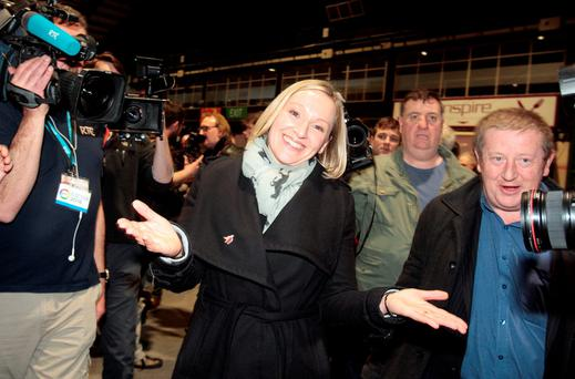 Lucinda Creighton of Renua Ireland at the count in the RDS, where she lost her seat on Saturday. Photo: Tom Burke