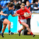 Orla Finn, Cork, in action against Niamh Collins, Dublin. Photo: Ramsey Cardy/Sportsfile