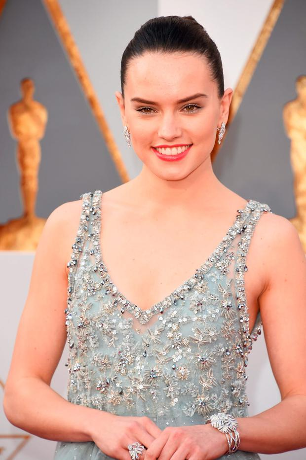 Actress Daisy Ridley attends the 88th Annual Academy Awards at Hollywood & Highland Center on February 28, 2016 in Hollywood, California. (Photo by Jason Merritt/Getty Images)