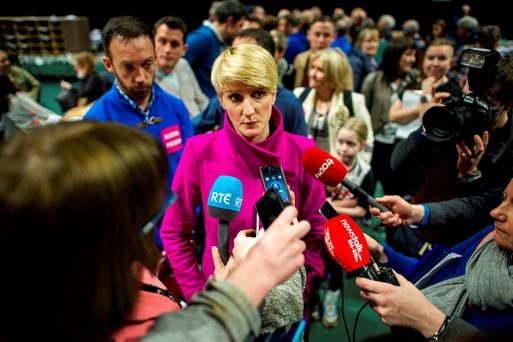 Averil Power (Independent) at the RDS Election Count centre (Photo: Douglas O'Connor)
