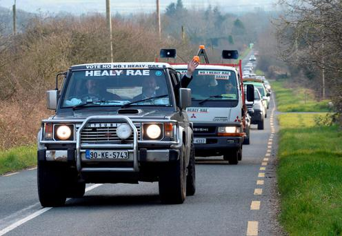 New TDs Danny and Michael Healy-Rae on their county-wide victory procession through Kerry