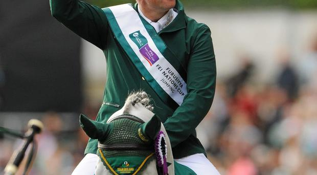 Cian O'Connor on his horse Good Luck. Photo: Seb Daly/Sportsfile