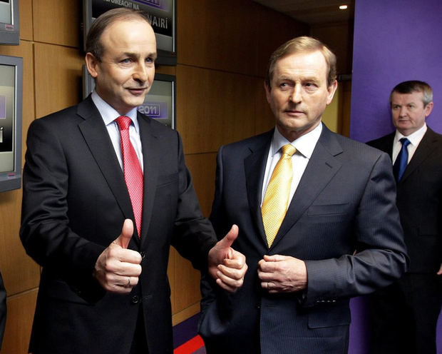 Micheal Martin and Enda Kenny now face the prospect of forming a coalition