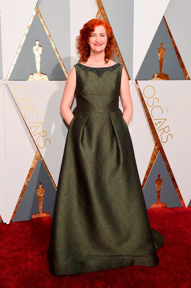 Writer Emma Donoghue attends the 88th Annual Academy Awards at Hollywood & Highland Center on February 28, 2016 in Hollywood, California. (Photo by Kevork Djansezian/Getty Images)