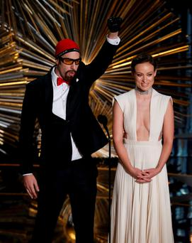 Sacha Baron Cohen and Olivia Wilde present the clip for for the Oscar nominated film