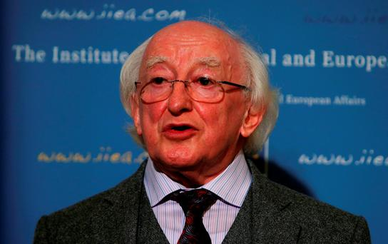 File photo dated 15/10/14 of Irish president Michael D Higgins who has hailed the strength of the country's film industry on a night when home-grown talent was strongly represented at the Oscars.