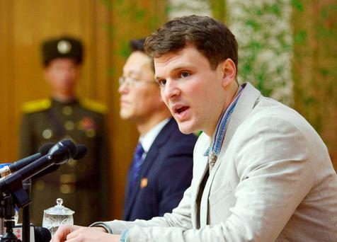 Otto Frederick Warmbier, a University of Virginia student who has been detained in North Korea since early January
