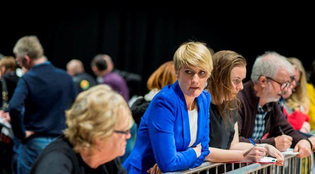Dublin Bay North: Averil Power watches the count.