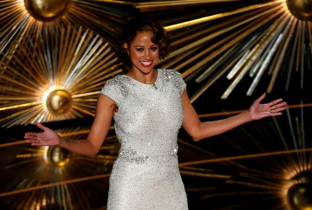 Actress Stacey Dash performs a comedy bit about Black History Month at the 88th Academy Awards in Hollywood, California February 28, 2016. REUTERS/Mario Anzuoni