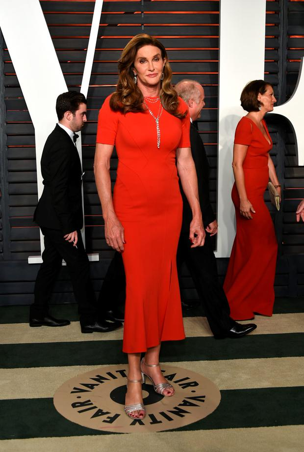 Caitlyn Jenner arrives at the Vanity Fair Oscar Party on Sunday, Feb. 28, 2016, in Beverly Hills, Calif. (Photo by Evan Agostini/Invision/AP)