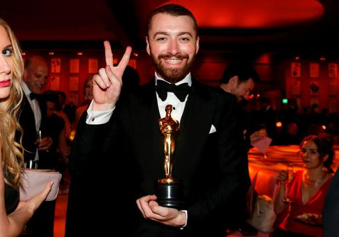 British singer-songwriter Sam Smith, winner for Best Original Song for