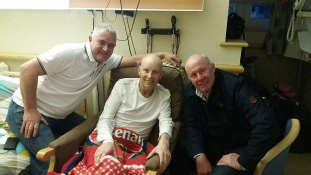 Liam Brady visited Martin Toomey in hospital