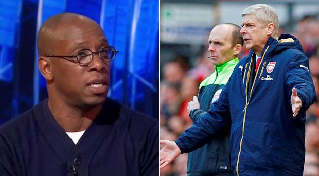 Ian Wright is sick of hearing Arsene Wenger defends his player's effort
