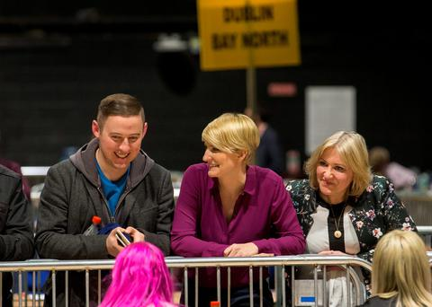 Independent Senator Averil Power at the RDS Count centre, as the full recount for the Dublin Bay North constituency is under way Credit: Fergal Phillips.