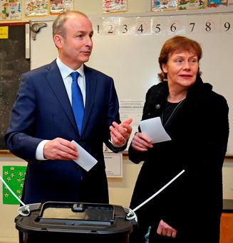 Fianna Fáil leader Micheál Martin – but have voters forgotten about FF's last stint in power? Photo: Chris Radburn/PA Wire...A