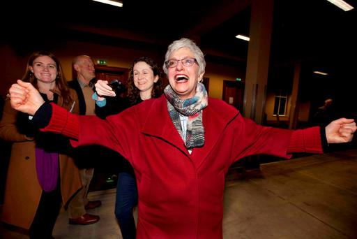 Senator Zappone after being told that the ballot check did not change the original verdict. Photo: RollingNews.ie