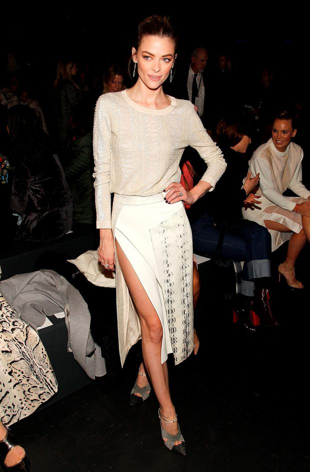 Jaime King attends the Prabal Gurung Fall 2016 fashion show during New York Fashion Week: The Shows at The Arc, Skylight at Moynihan Station on February 14, 2016 in New York City. (Photo by Paul Morigi/WireImage)