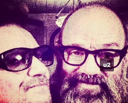 Michael Stipe posts selfie with Bono to Instagram