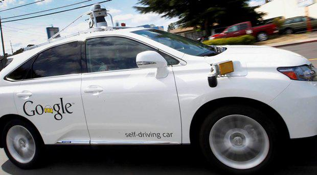 A self-driving car being tested by Google struck a public bus, which appears to be the first time one of the tech company's vehicles caused an accident