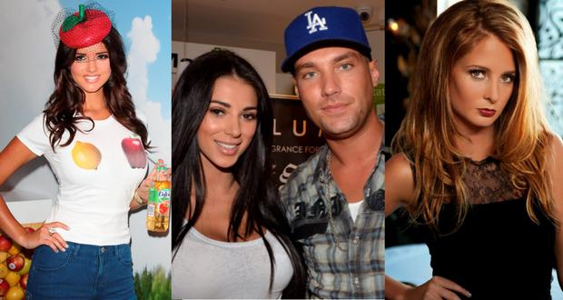 (L to R) Lucy Mecklenburgh in 2012, Georgia Penna and Calum Best in 2012 and Millie Mackintosh in season one of Made in Chelsea