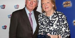 Gay Byrne and Kathleen Watkins at the opening night of Chitty Chitty Bang Bang at the Bord Gáis Energy Theatre. Picture: Brian McEvoy