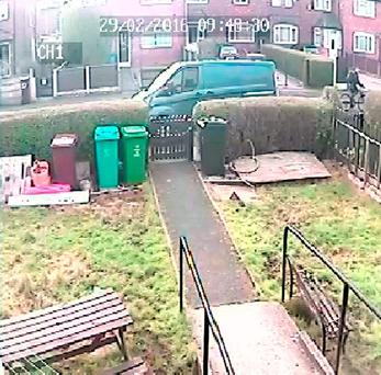 Man cycling away from the scene of attempted murder Credit: Greater Manchester Police/PA Wire