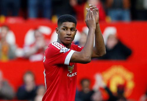 Rashford has made a spectacular start to his senior career by scoring four goals in his first two games for the club: Reuters / Phil Noble