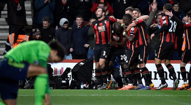 Bournemouth's Benik Afobe's 79th minute winner sealed the game: Reuters / Toby Melville