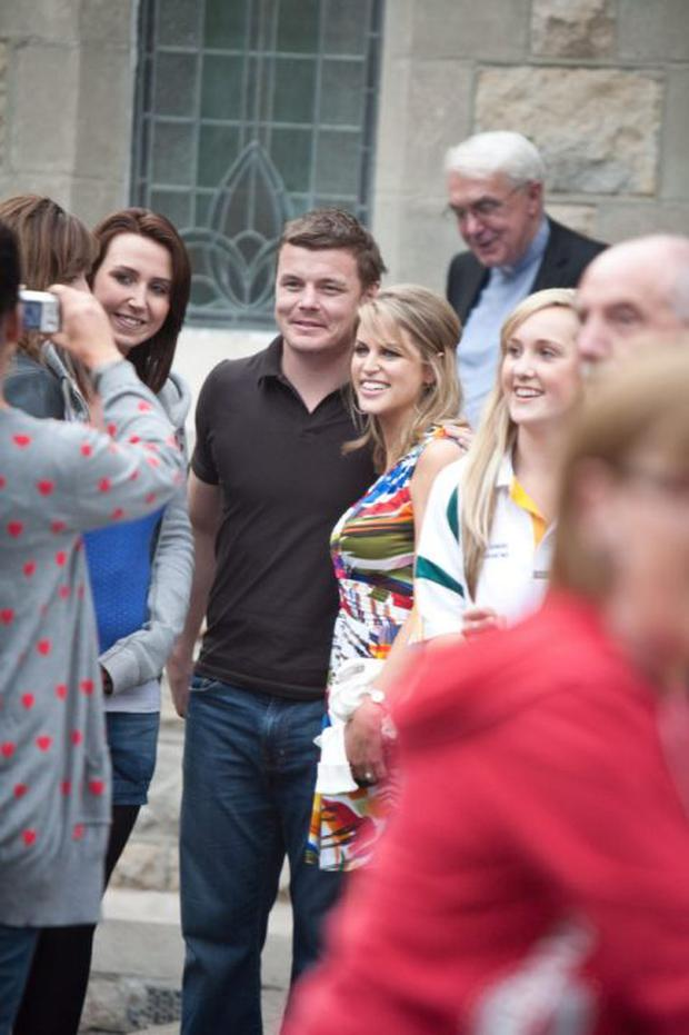 Brian O'Driscoll and Amy Huberman before their 2010 wedding
