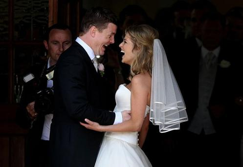 Brian O'Driscoll and Amy Huberman on their wedding day