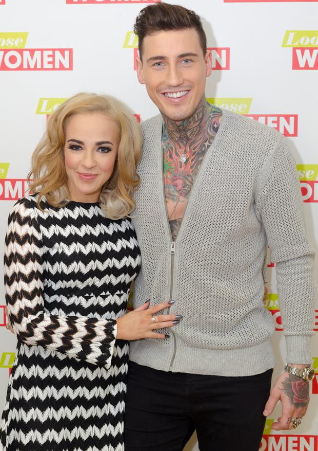 Stephanie Davis and Marc O'Neill on ITV's Loose Women. Picture: Rex Features/Shutterstock
